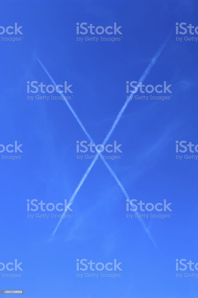 X-Contrails royalty-free stock photo