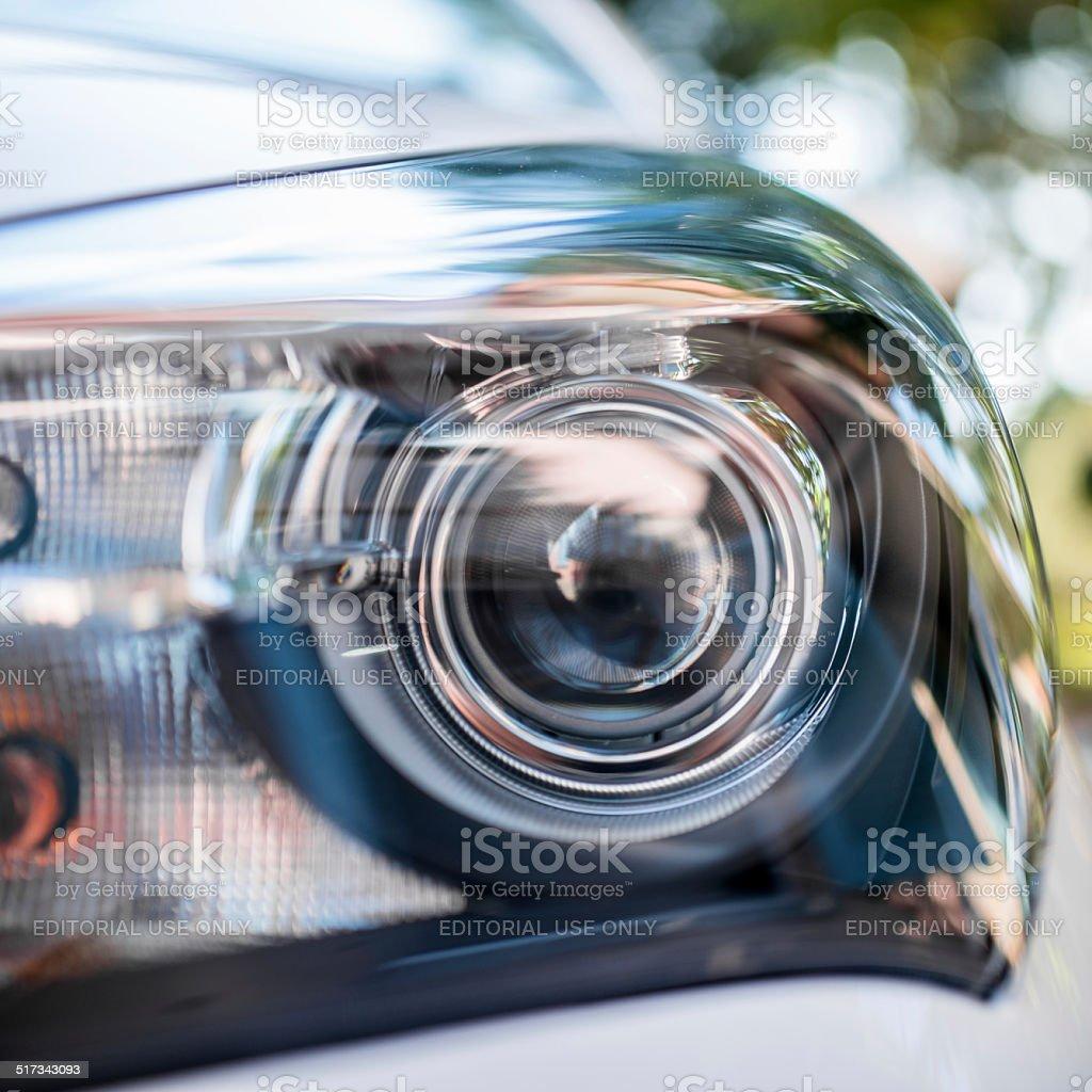 xeno headlight close up stock photo