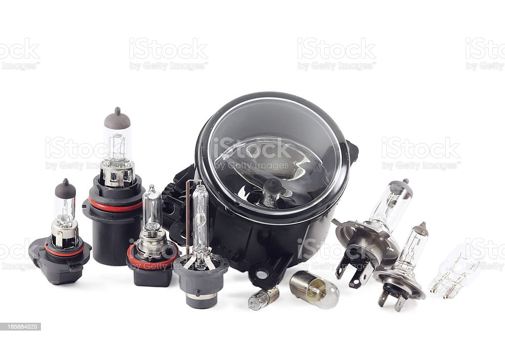 xenon and halogen lamps. stock photo