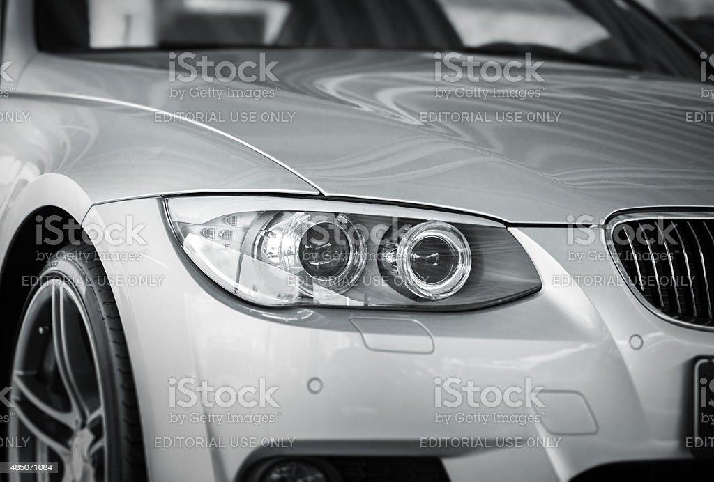 BMW Xenon Car Head Light stock photo