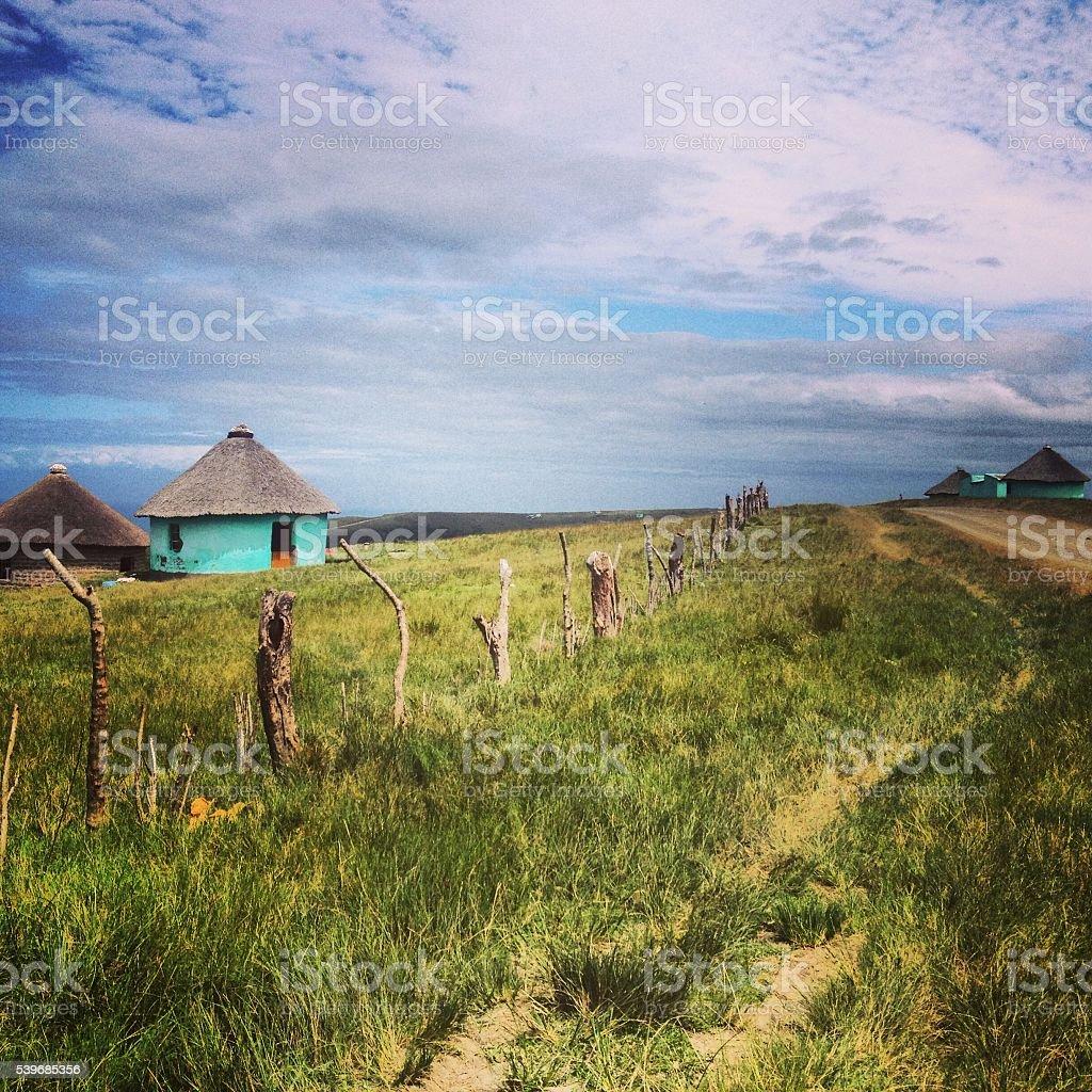 Xhosa Huts stock photo