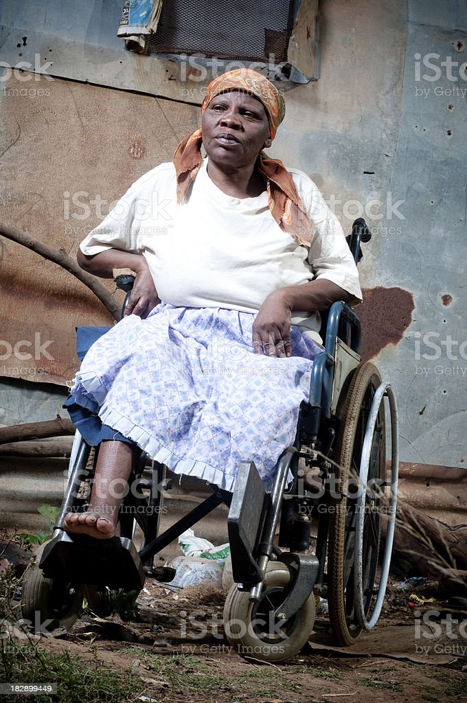 Xhosa woman in wheelchair royalty-free stock photo