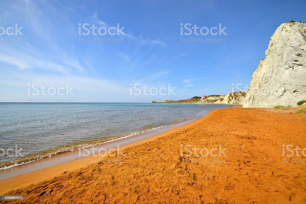 Xi beach, Kefalonia, Greece stock photo