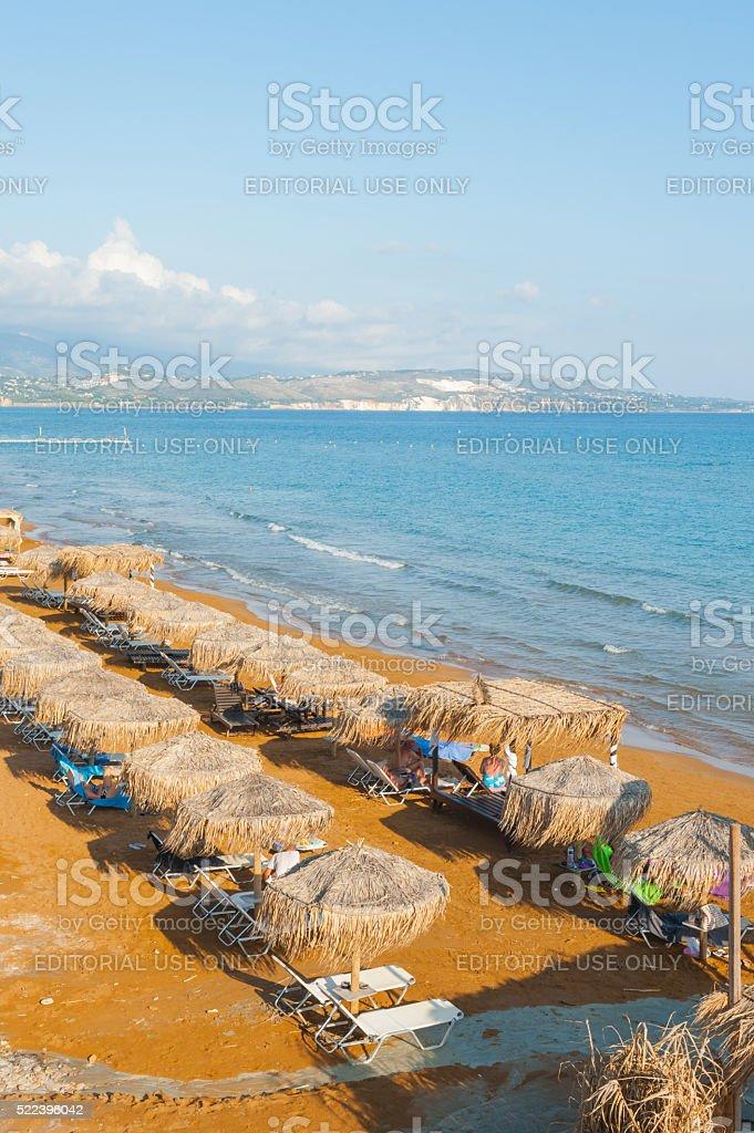 Xi Beach, Kefalonia stock photo