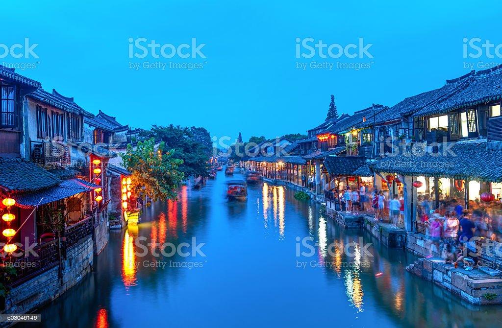 Xi tang ancient town stock photo