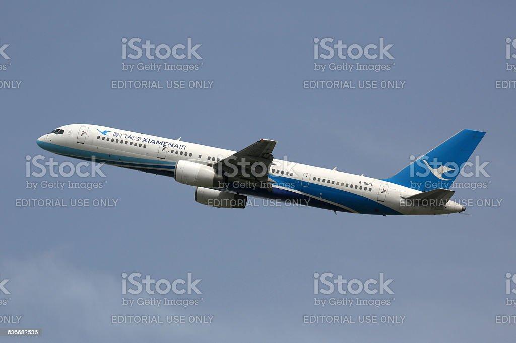 Xiamen Air Boeing 757-200 airplane stock photo