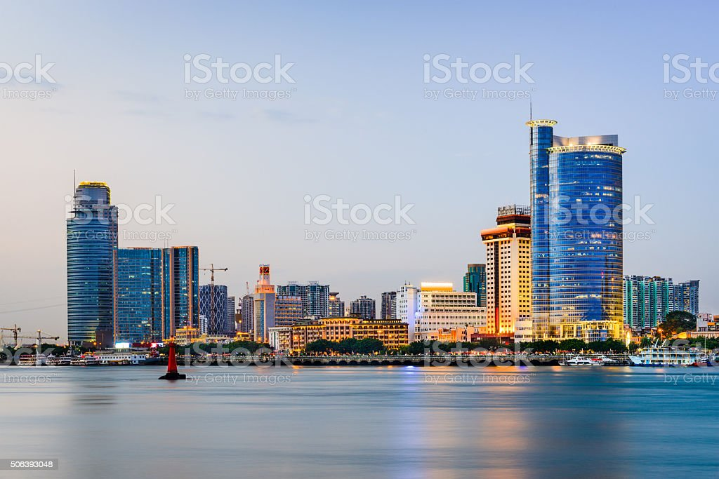 Xiamen China Skyline stock photo