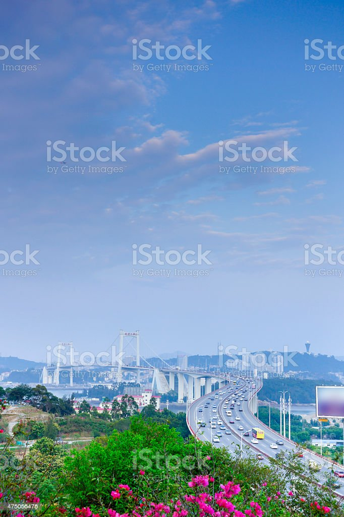 Xiamen haicang bridge stock photo