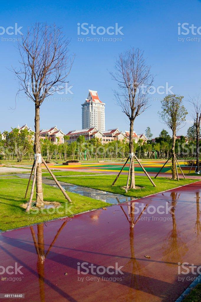 Xiamen jimei university stock photo
