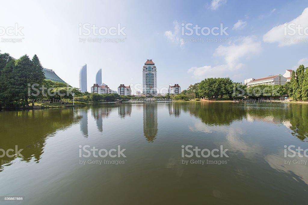 Xiamen University stock photo