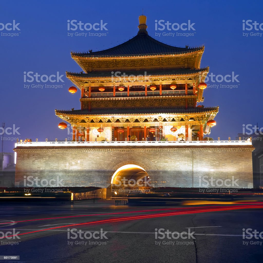 Xian at Night royalty-free stock photo