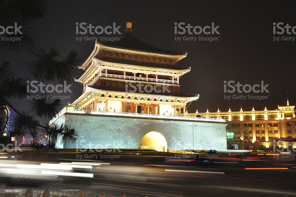 Xi'an Bell Tower royalty-free stock photo