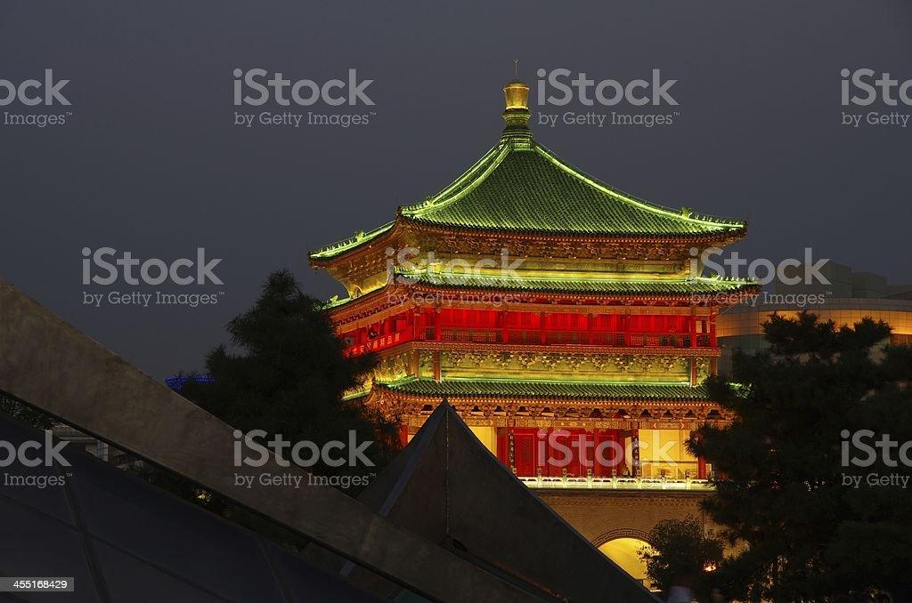 Xi'an Bell Tower stock photo
