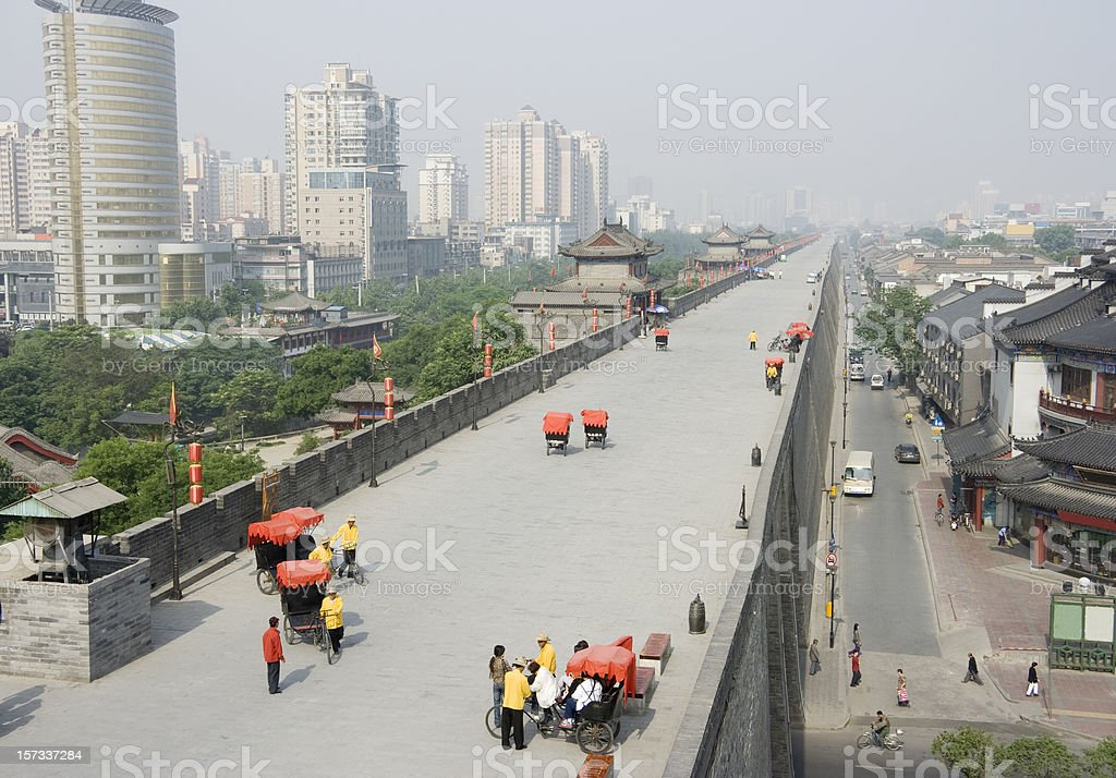Xi'an China City Wall royalty-free stock photo