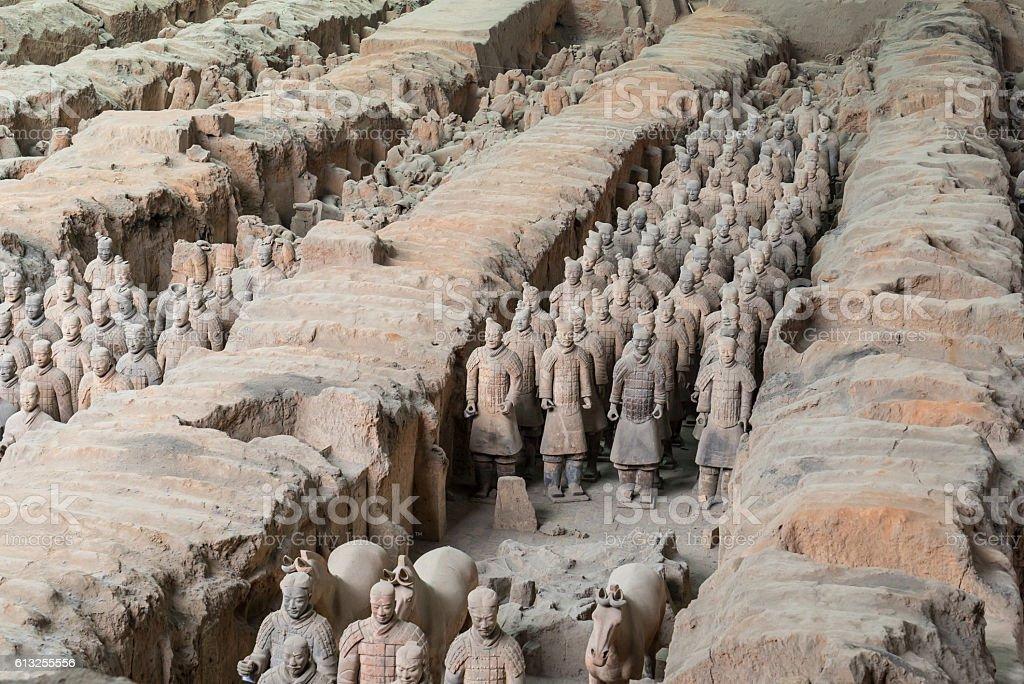 Xian China Terra Cotta Warriors stock photo