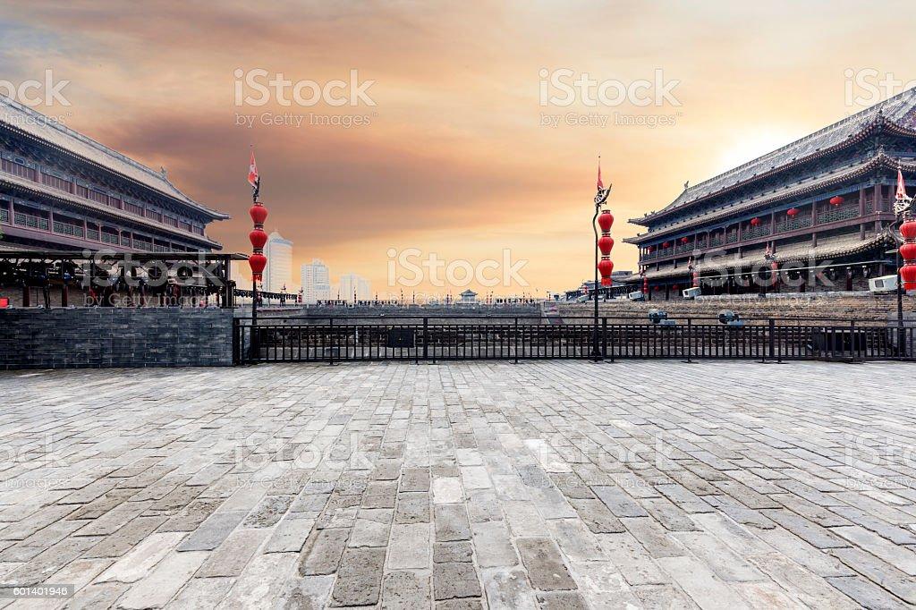 Xi'an City Wall stock photo