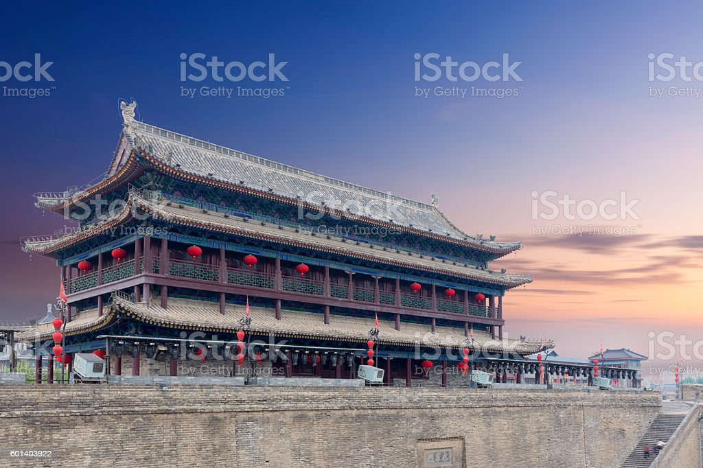 Xi'an City Wall stock photo