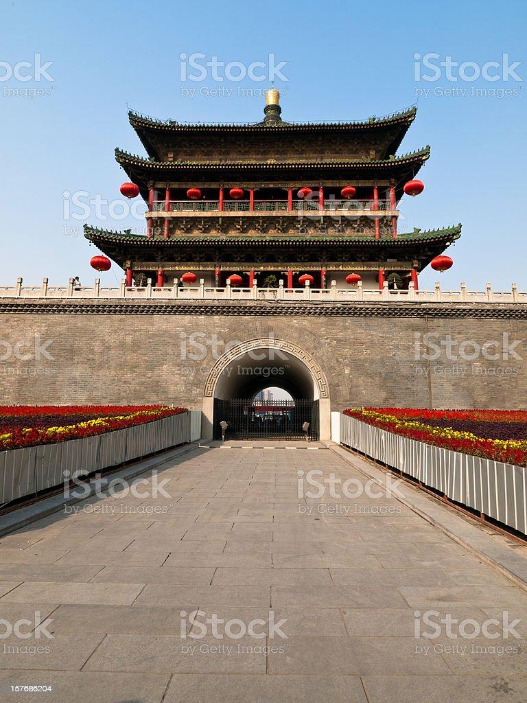 Xian City Walls royalty-free stock photo