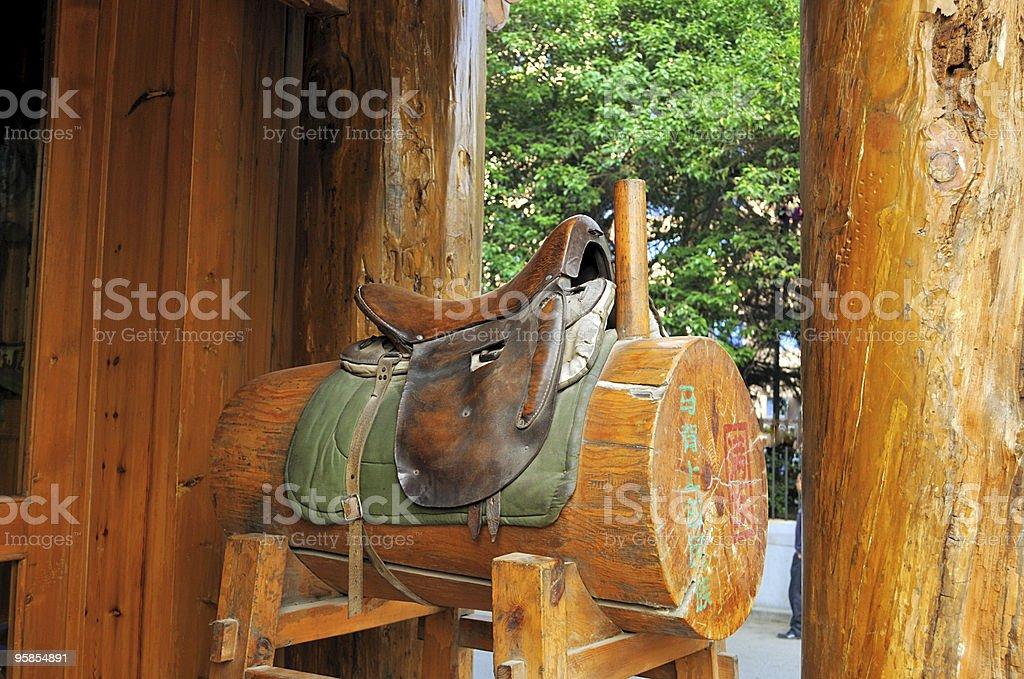 Xi'An English Saddle stock photo