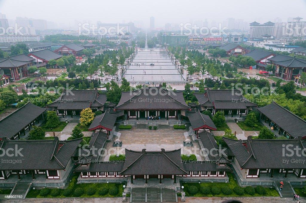 Xian from Giant Wild Goose Pagoda  China stock photo