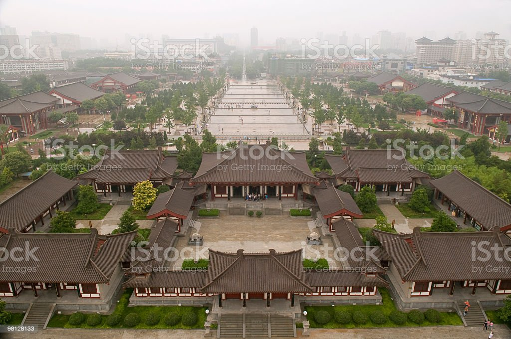 Xian from Giant Wild Goose Pagoda royalty-free stock photo