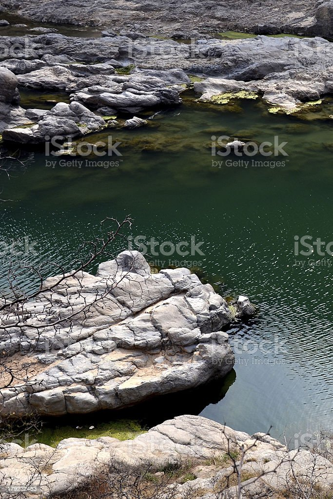 Xi'an Jinghe river canyon streams royalty-free stock photo