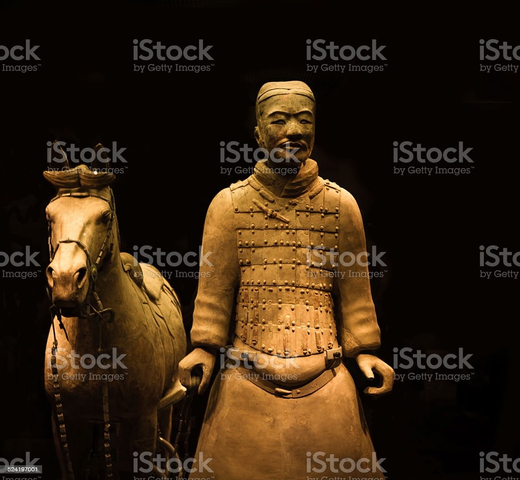 Xi'an Terracotta Warrior and Horse stock photo