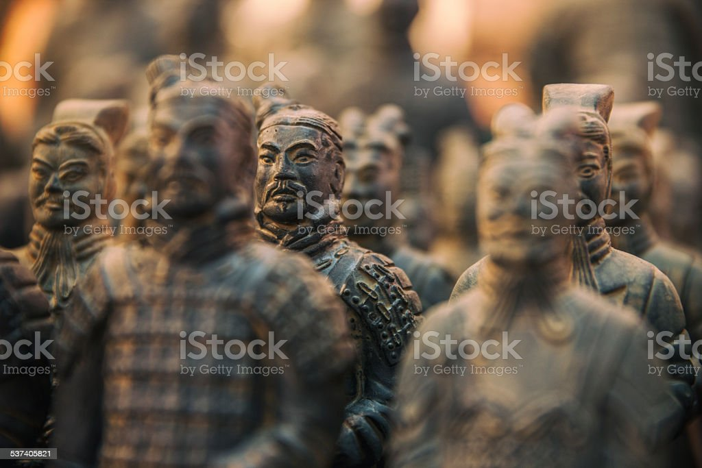 Xi'an terracotta warriors stock photo