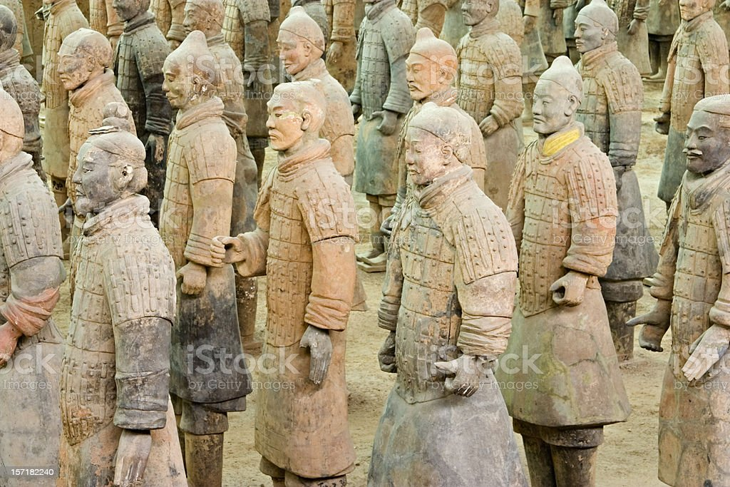 Xian Tomb of the Terracotta Warriors royalty-free stock photo