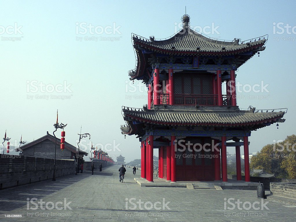 Xian Wall building in China royalty-free stock photo