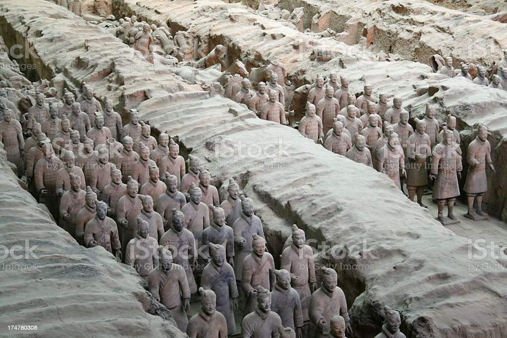 Xi'an Warriors royalty-free stock photo