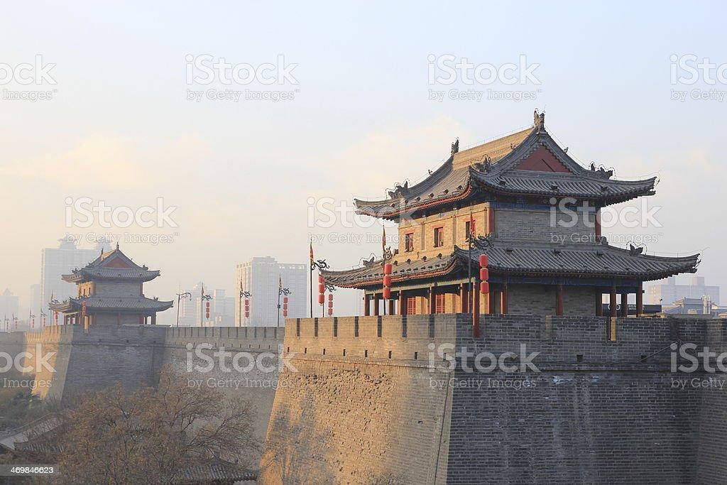 Xian's City Wall stock photo
