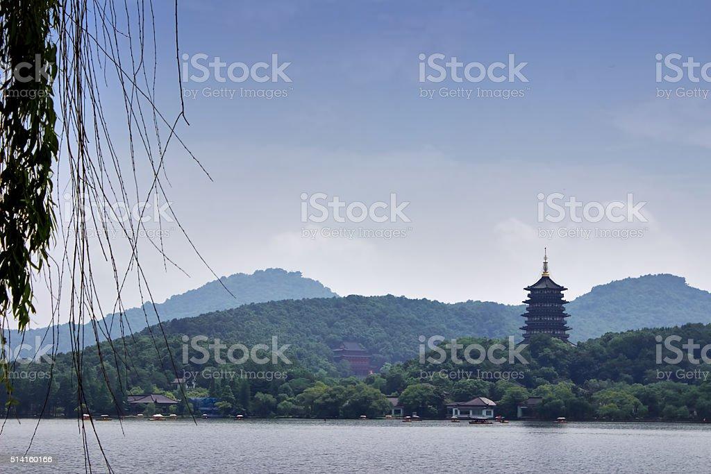 Xihu lake,landmark of Hangzhou,China stock photo
