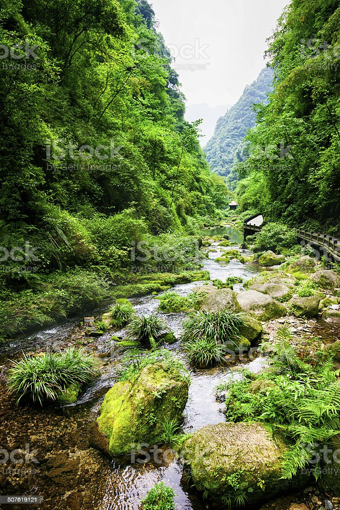 Xiling Gorge in China stock photo
