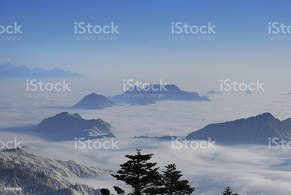Xiling snow mountain royalty-free stock photo