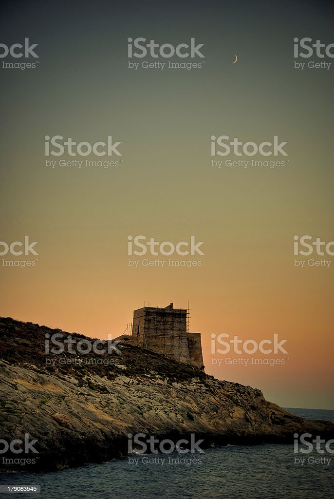 HDR Xlendi Gozo stock photo
