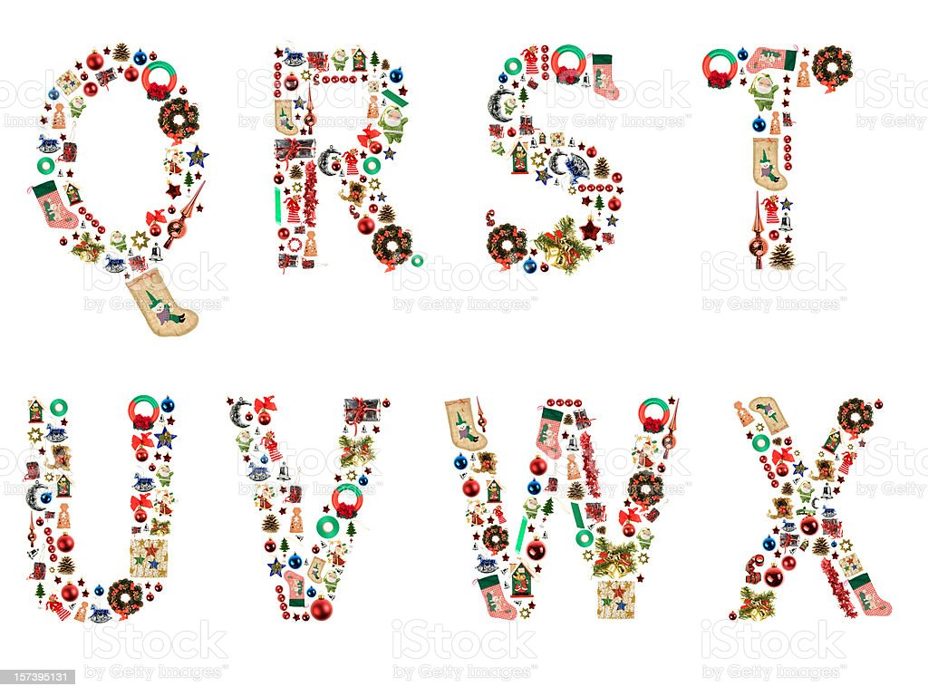 XXL Xmas Alphabet royalty-free stock photo