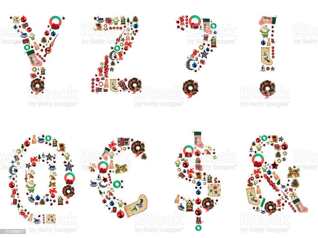 XXL Xmas Alphabet royalty-free stock photo