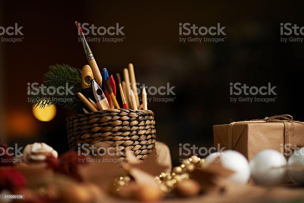 Xmas art and craft stock photo