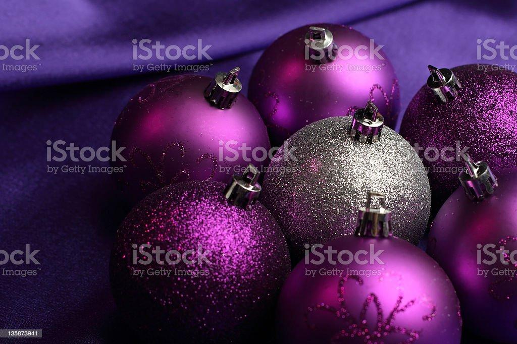 xmas balls stock photo
