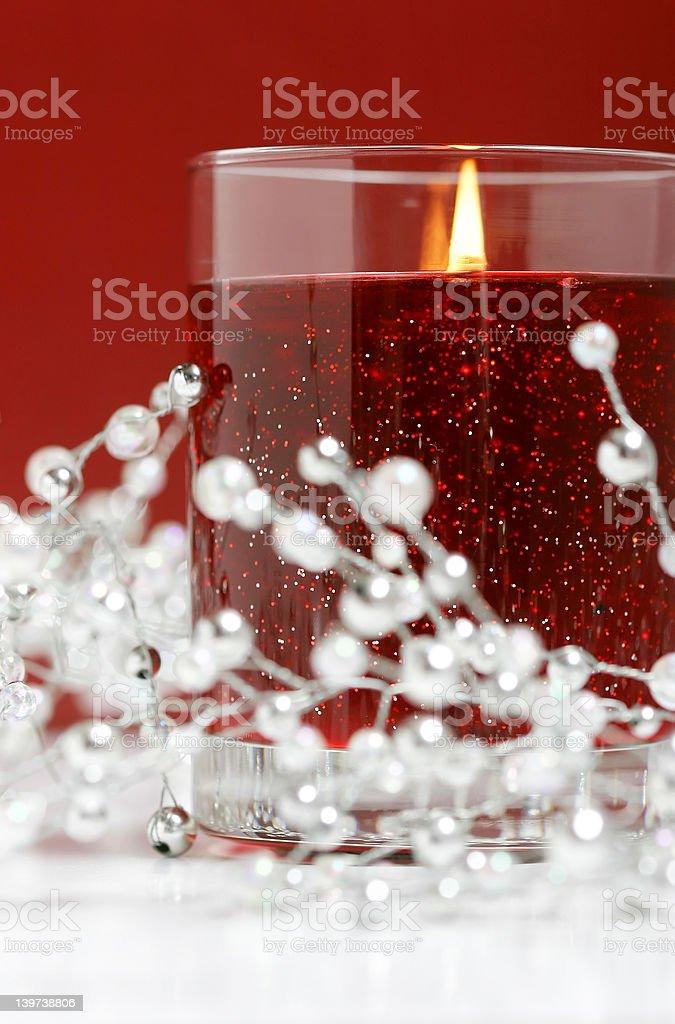 Xmas Candle royalty-free stock photo