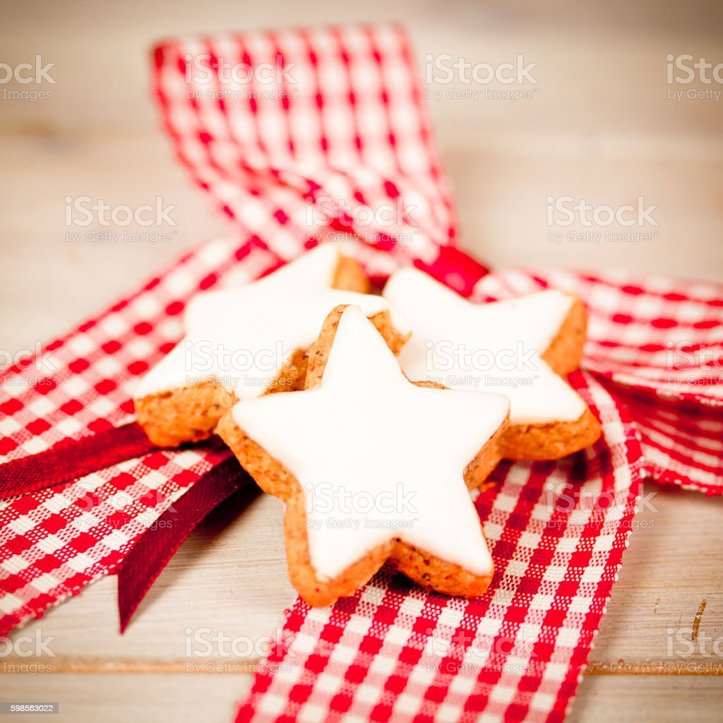 xmas cookies stock photo