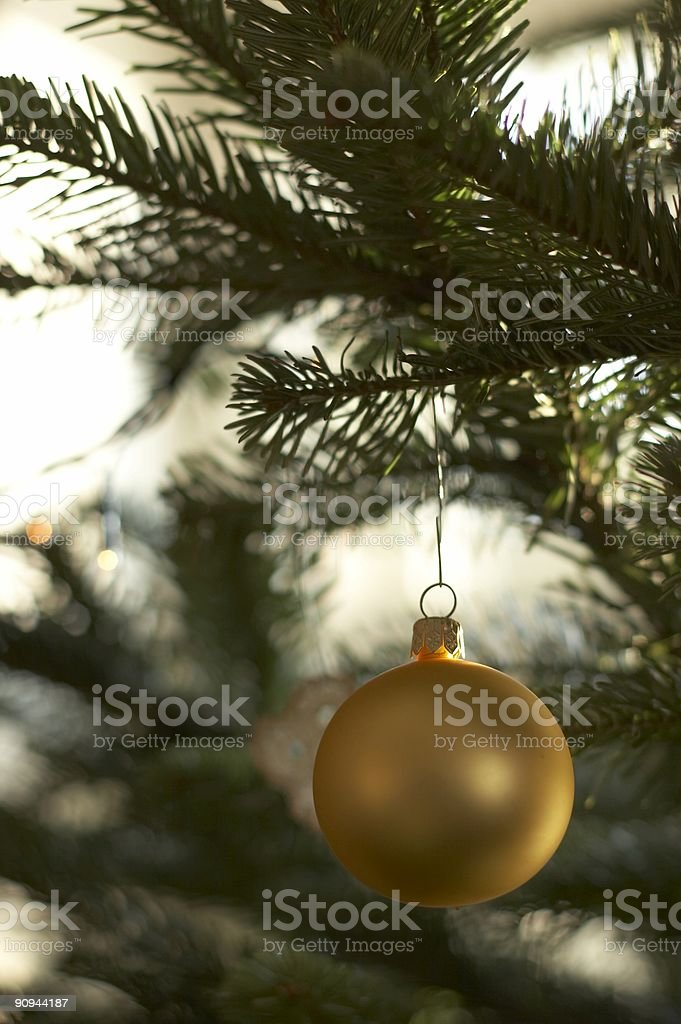Xmas deco - golden ball royalty-free stock photo