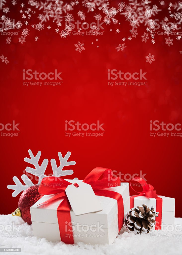 Xmas gift background stock photo