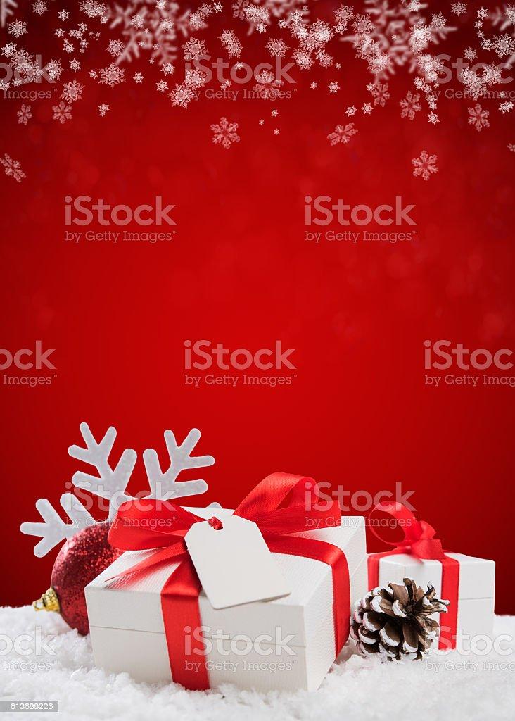 Xmas gift background stock photo