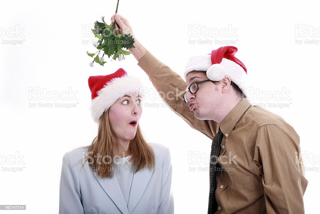 Xmas Office Party: Better Watch Out stock photo