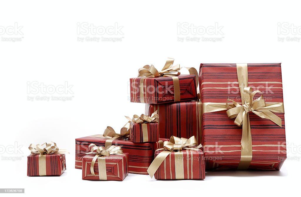 Xmas presents and balls royalty-free stock photo