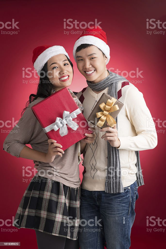 X-mas presents royalty-free stock photo