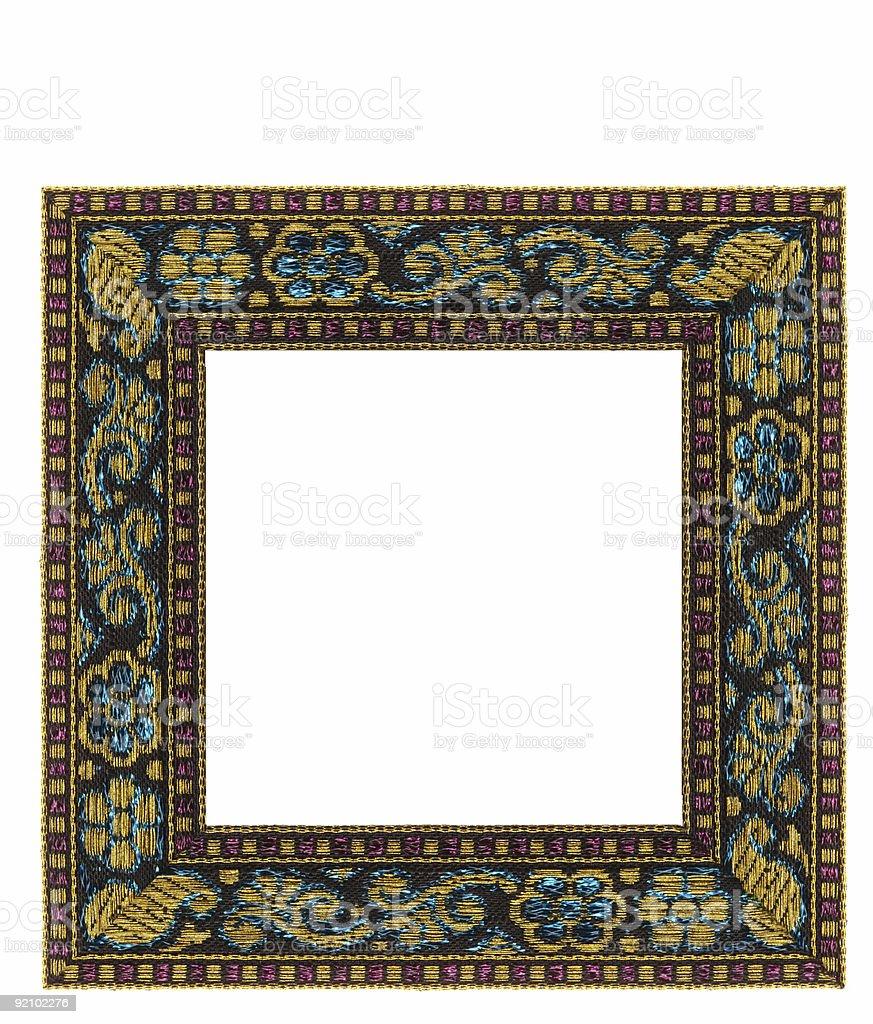 xmas ribbon frame stock photo