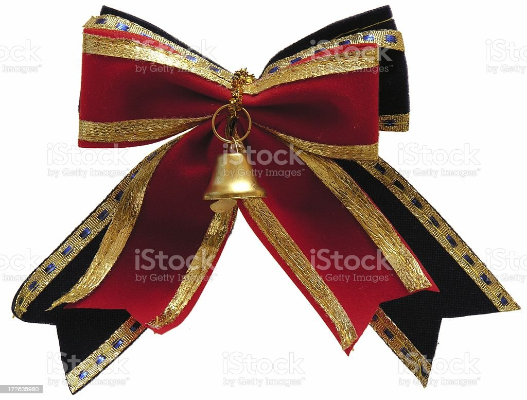 X-mas ribbon stock photo